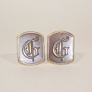 Men's stylized G cuff links